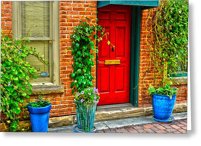 Red Door 5 Greeting Card by Baywest Imaging