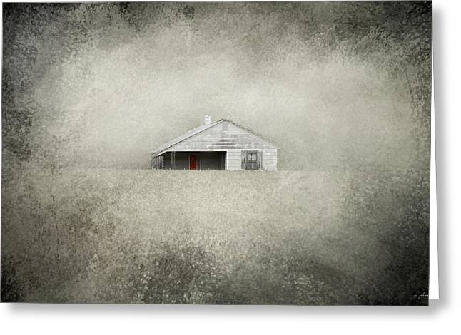 Tennessee Farm Greeting Cards - Red Door Farmhouse Greeting Card by Jai Johnson