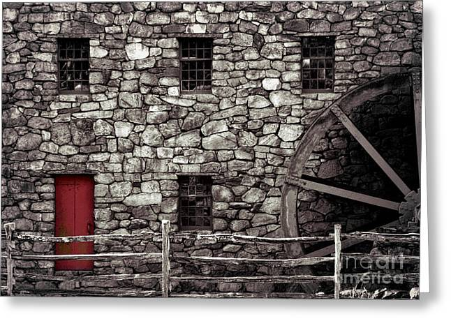 Entrance Door Greeting Cards - Red Door Greeting Card by Jayne Carney