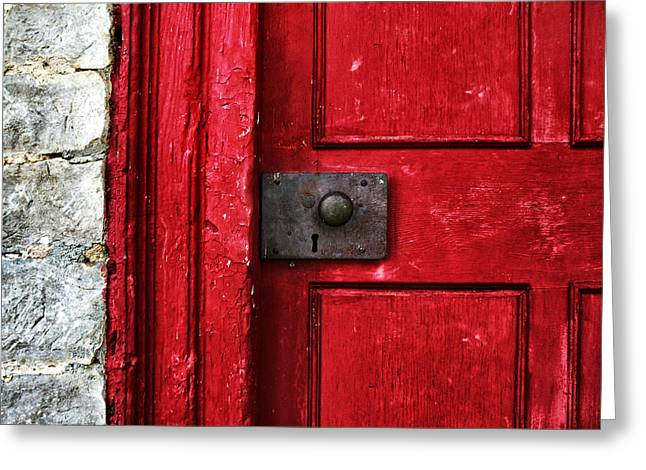 Red Door Greeting Card by Steven  Michael
