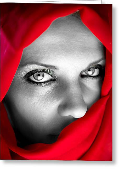 Burkas Greeting Cards - Red Dream Greeting Card by Sotiris Filippou