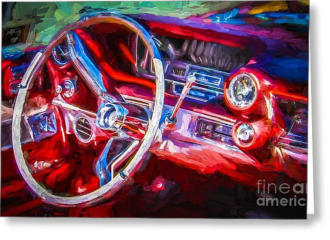 Drive In Style Greeting Cards - Red Drive Greeting Card by Perry Webster