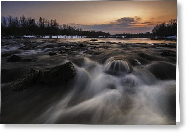 Davorin Mance Greeting Cards - Red dusk Greeting Card by Davorin Mance