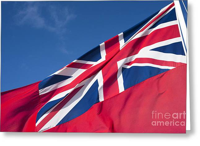 And Merchant Ships Greeting Cards - Red Ensign Greeting Card by Anne Gilbert