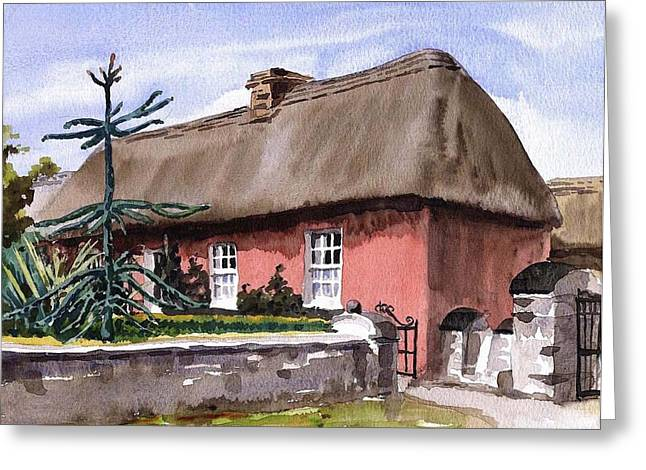 Tour Ireland Greeting Cards - CLARE A well off farmers house Bunratty Folk Park Greeting Card by Val Byrne