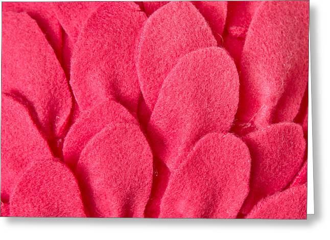 Cushions Greeting Cards - Red felt Greeting Card by Tom Gowanlock