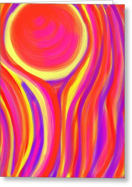 Sacral Chakra Greeting Cards - Red Fire Greeting Card by Daina White