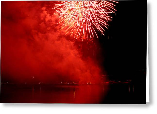 Red fire Greeting Card by Martin Capek