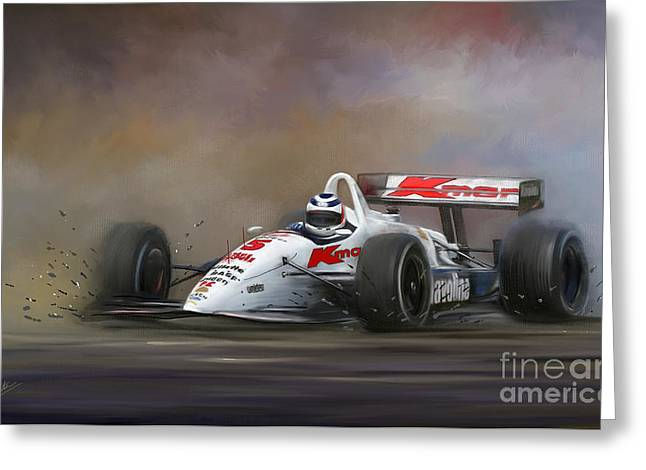 K-1 World Grand Prix Champion Greeting Cards - Red Five - Nigel Mansell Greeting Card by Linton Hart