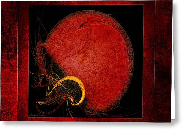 Safety Gear Digital Art Greeting Cards - Red Football Helmet Abstract Frames 4 Greeting Card by Andee Design