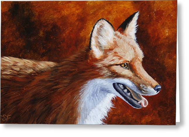 Wild Dog Greeting Cards - Red Fox - A Warm Day Greeting Card by Crista Forest