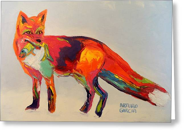 Denver Artist Greeting Cards - Red Fox Greeting Card by Arturo Garcia