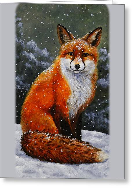 Wild Dog Greeting Cards - Red Fox iPhone Case Greeting Card by Crista Forest