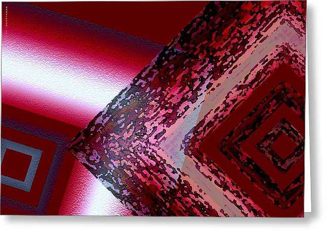 Transparency Geometric Greeting Cards - Red fusion Greeting Card by Mario  Perez