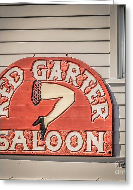 Saloons Greeting Cards - Red Garter Key West - Square - HDR Style Greeting Card by Ian Monk