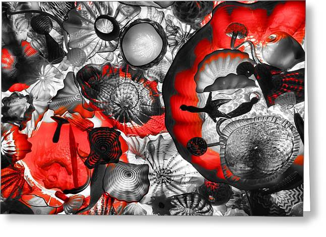 Glass Work Greeting Cards - Red Glass Greeting Card by Dan Sproul