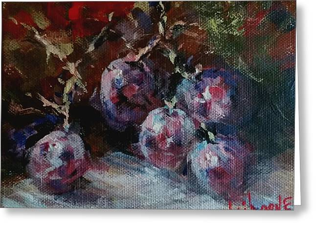 Bunch Of Grapes Greeting Cards - Red Grapes Greeting Card by Claiborne Hemphill-Trinklein