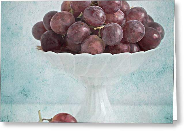 red grapes  Greeting Card by Corinna  Gissemann