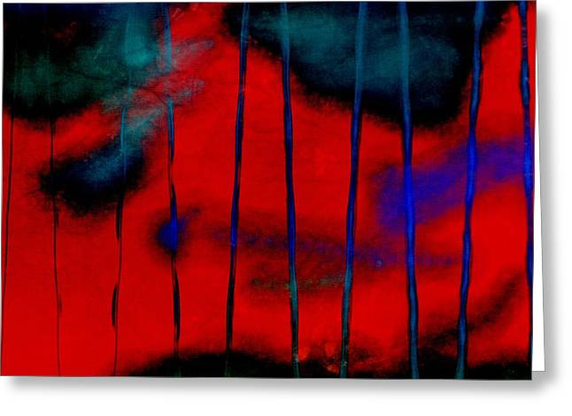 Becky Digital Art Greeting Cards - Red Green Blue Texture Greeting Card by Becky Hayes