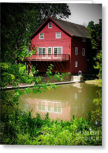 Original Art Photographs Greeting Cards - Red Grist Mill Greeting Card by Colleen Kammerer