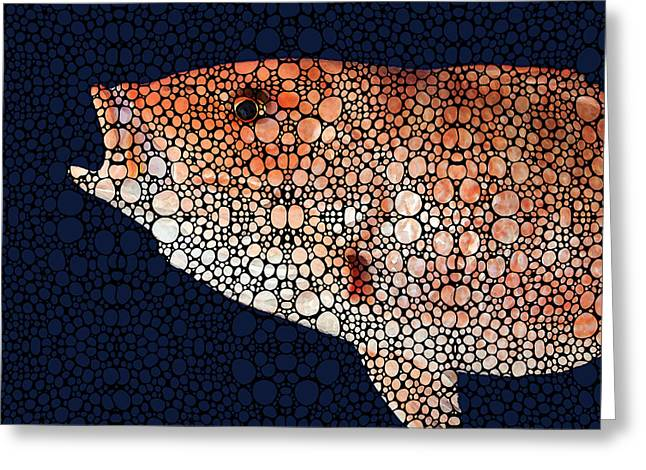 Florida Seafood Greeting Cards - Red Grouper Fish - Florida Art By Sharon Cummings Greeting Card by Sharon Cummings