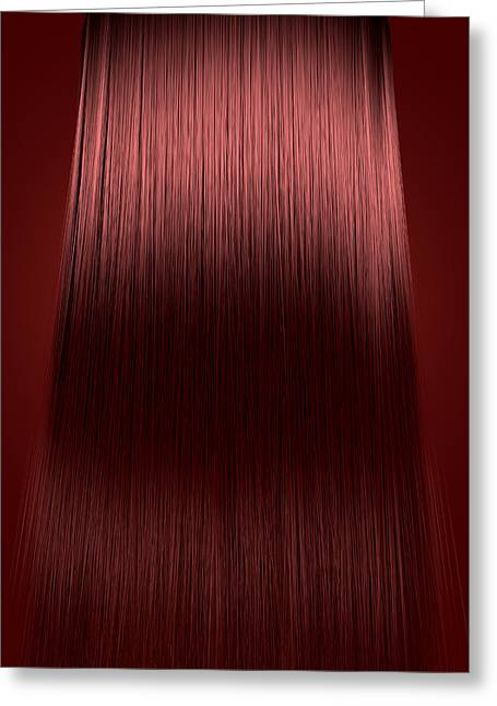Hairstyle Greeting Cards - Red Hair Perfect Straight Greeting Card by Allan Swart