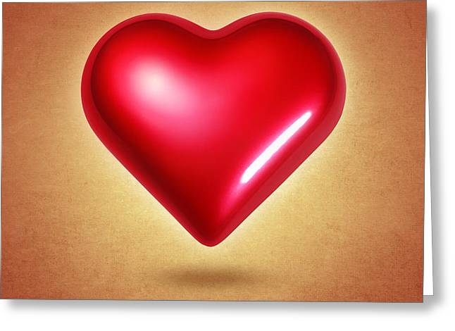 Sweetest Day Greeting Cards - Red Heart Greeting Card by Carlos Caetano