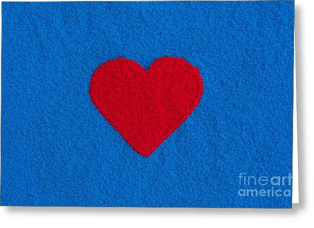 Coloured Greeting Cards - Red Heart Greeting Card by Tim Gainey