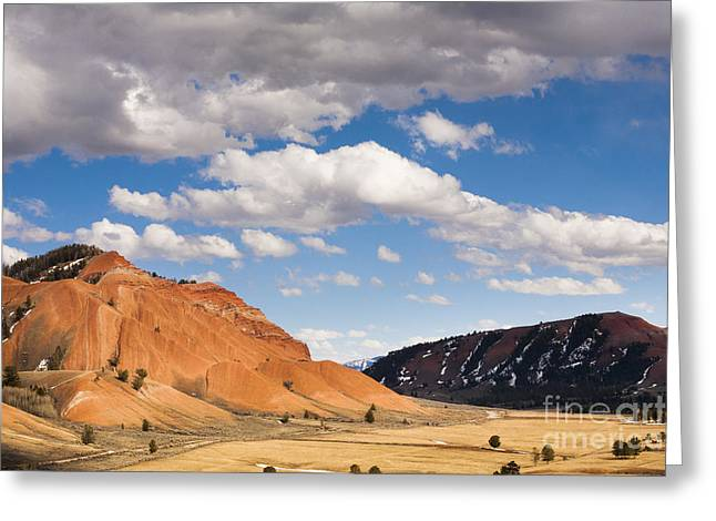 Bridger Teton Greeting Cards - Red Hills of the Gros Ventres Greeting Card by Mike Cavaroc