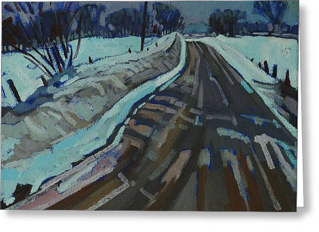 Canada Greeting Cards - Red Horse Road Greeting Card by Phil Chadwick