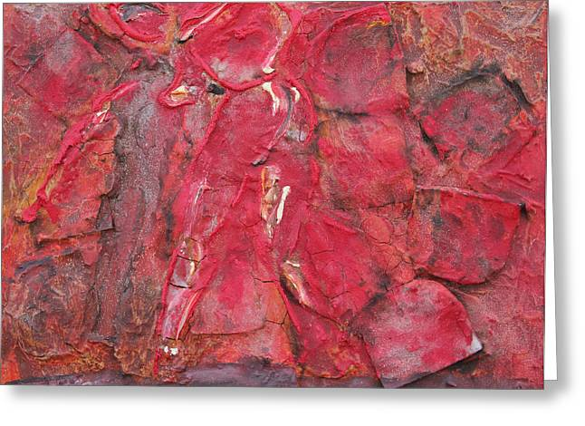 Red Sculptures Greeting Cards - Red Hot 1 Greeting Card by Jorge Berlato