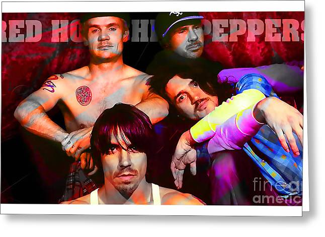 Red Hot Chili Peppers Greeting Cards - Red Hot Chili Peppers Greeting Card by Marvin Blaine