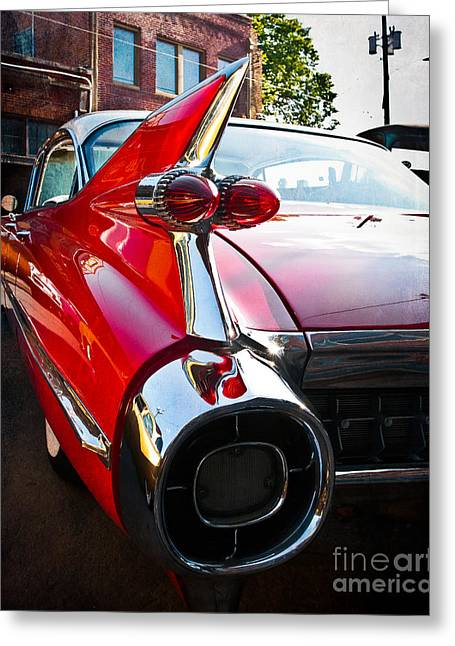 Sonja Quintero Greeting Cards - Red Hot Rod Greeting Card by Sonja Quintero