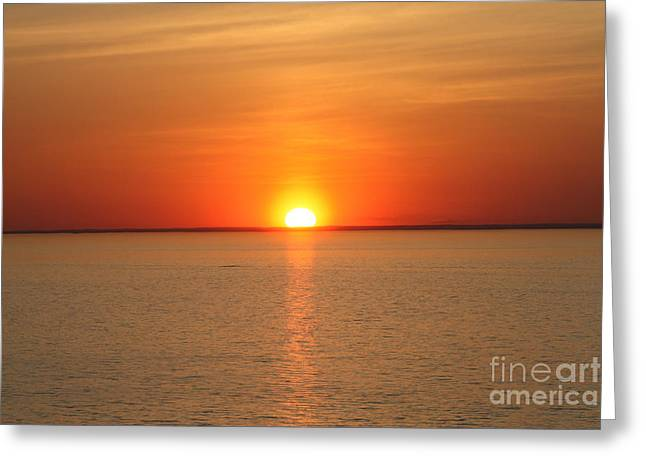 Sunset Framed Prints Greeting Cards - Red-Hot Sunset Greeting Card by John Telfer