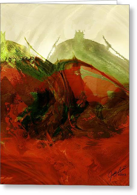 Judilynn Greeting Cards - Red Hot Greeting Card by The Art Of JudiLynn