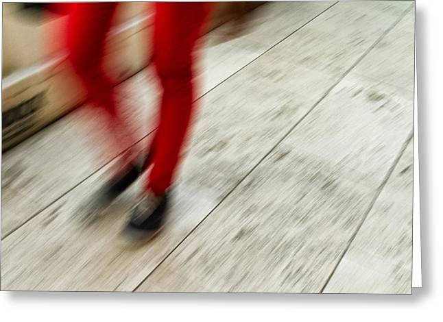 Red Hot Walking Greeting Card by Karol Livote