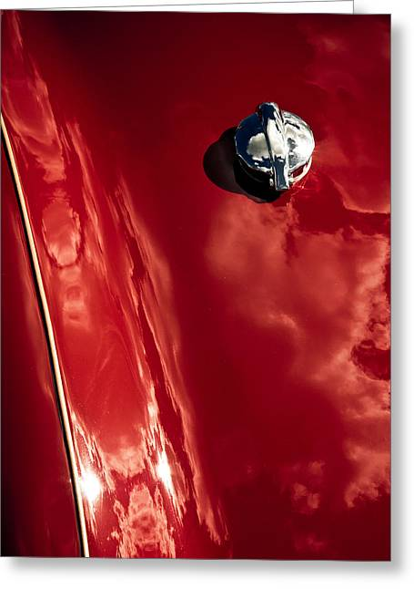 Aotearoa Greeting Cards - Red Jupiter Sky Greeting Card by Phil