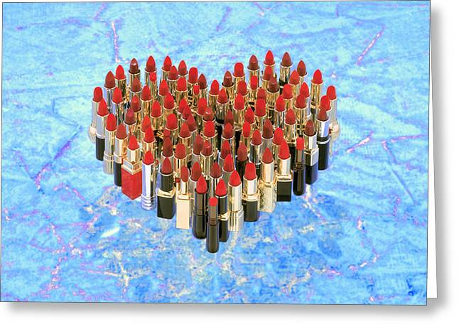 Examiner Greeting Cards - Red Kisses Greeting Card by Daniel Furon