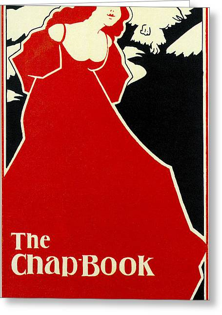 Red Lady The Chap Book1895 Greeting Card by Frank Hazenplug