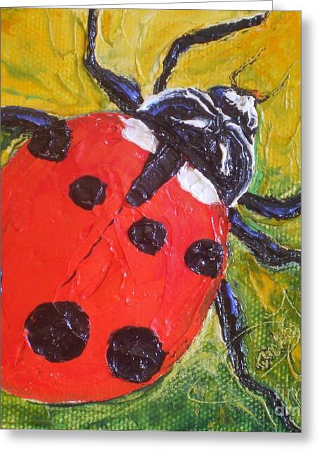 Red Ladybug Greeting Card by Paris Wyatt Llanso