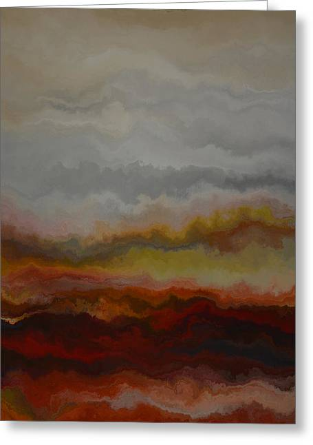 Red Landscape  Greeting Card by Andrada Anghel