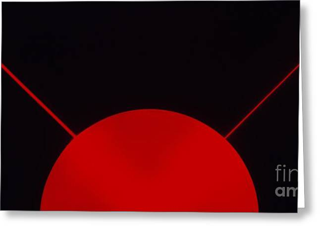 Abstract Shapes Greeting Cards - Red Laser Beam Greeting Card by Dorling Kindersley