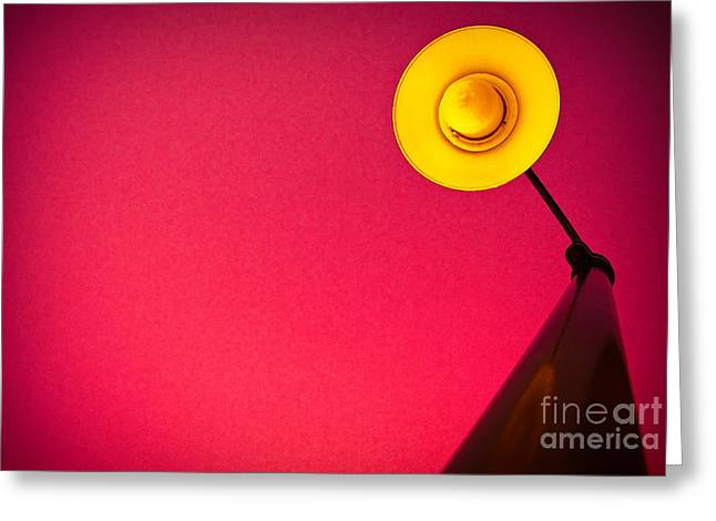Things Light Greeting Cards - Red Light District Greeting Card by Charles Dobbs