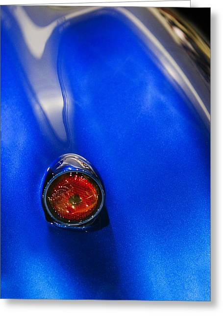 Blue Classic Car Greeting Cards - Red Light Special Greeting Card by Rebecca Cozart