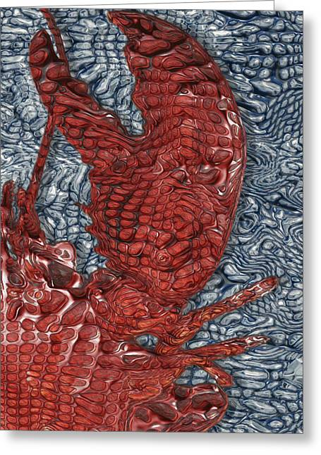 Important Greeting Cards - Red Lobster Greeting Card by Jack Zulli