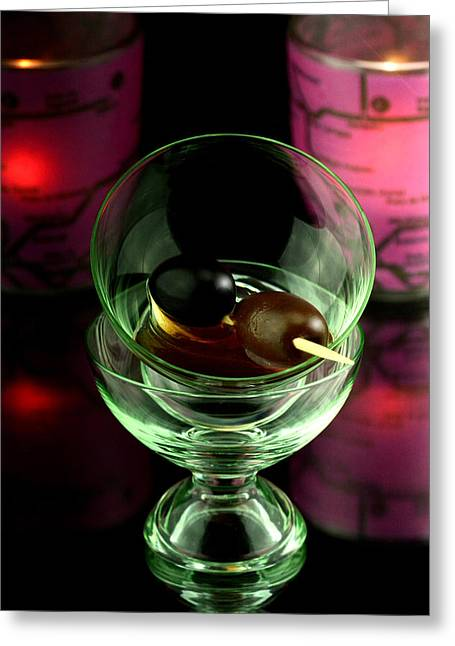 Stir Greeting Cards - Red Martini Greeting Card by Toppart Sweden