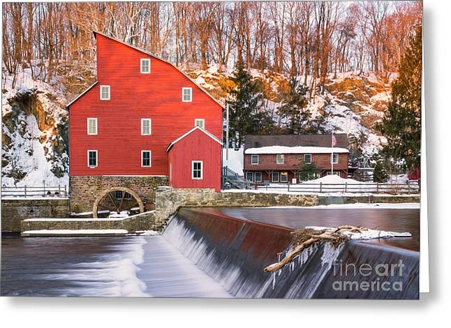 Old Mill Scenes Digital Greeting Cards - Red Mill Clinton New Jersey Greeting Card by Jerry Fornarotto
