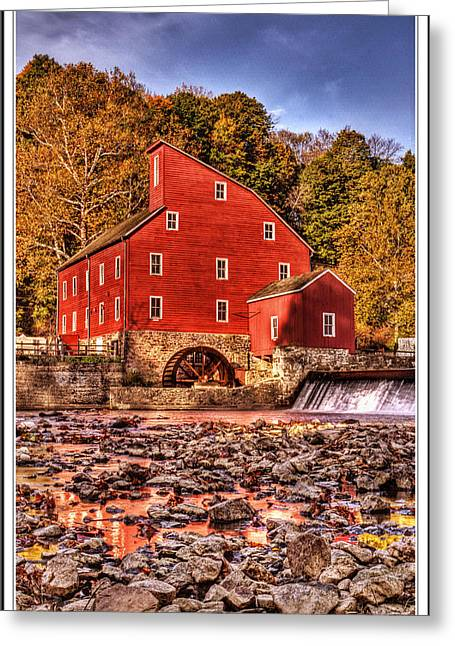 Haunted House Greeting Card Greeting Cards - Red Mill in Clinton New Jersey autumn 2014 Greeting Card by Geraldine Scull