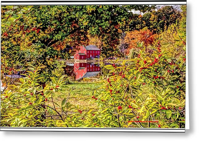Haunted House Greeting Card Greeting Cards - Red Mill in Clinton New Jersey Greeting Card by Geraldine Scull