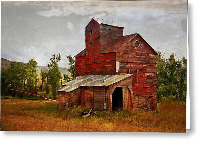 Marty Koch Greeting Cards - Red Mill Montana Greeting Card by Marty Koch